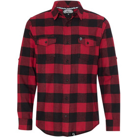 Loose Riders Flannel Langarmhemd Herren red